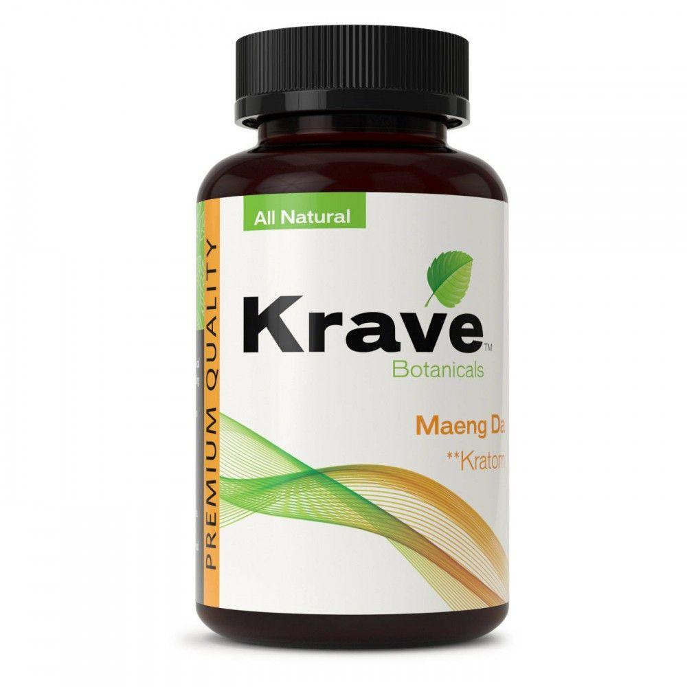 Krave Botanicals Maeng Da Kratom All Natural 500 Caps