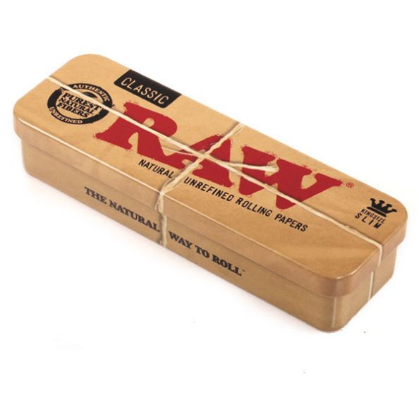 RAW Authentic Metal Rolling Tin Case