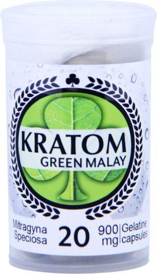 Kratom Green Malay 20 Capsules 900mg