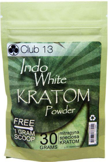 Indo White Kratom Powder Club13 Mitragyna Speciosa