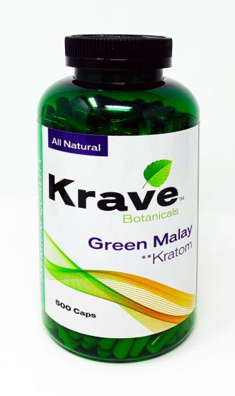 Green Malay 500 Caps Bottle