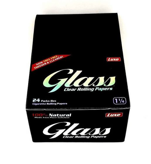 Luxe Glass Clear Rolling Papers 1 1/4