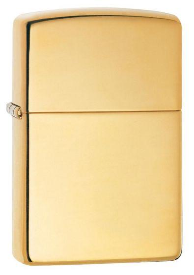 Zippo High Polish Brass Lighter Lustrous Smooth Brassy 254B