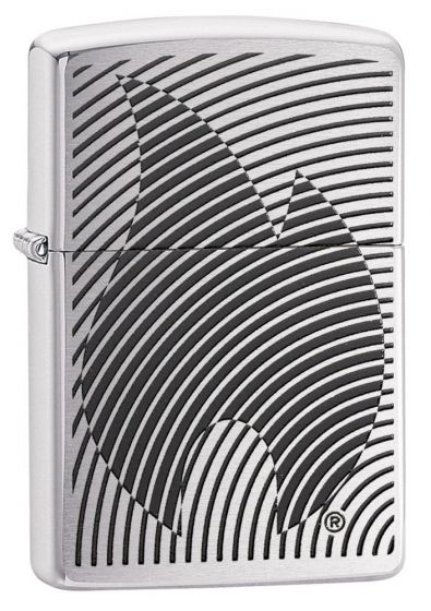 Zippo Illusion Flame Brushed Chrome Finish Lighter 29429