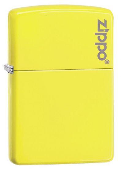 Zippo Neon Yellow Lighter With Zippo Logo 28887ZL