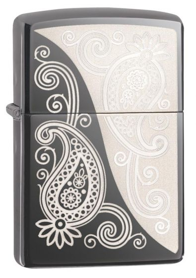 Zippo Paisley Lighter Black Ice Finish 29511
