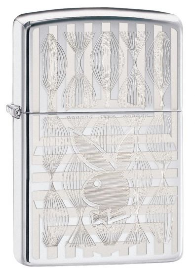 Zippo Playboy Lighter High Polish Chrome Finish 29509