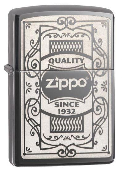 Zippo Quality Zippo Black Ice Finish Lighter 29425