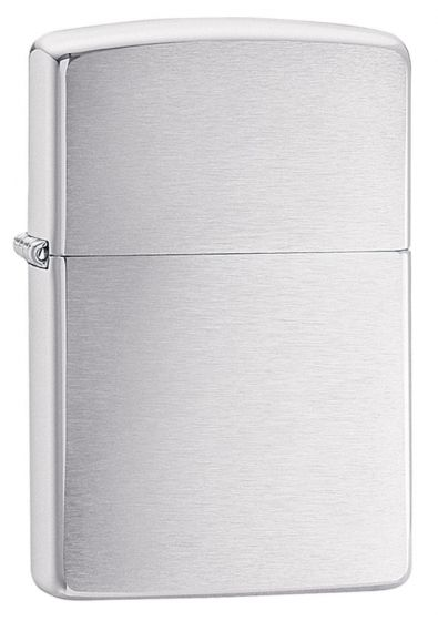 Zippo Regular Classic Brushed Chrome Lighter 200