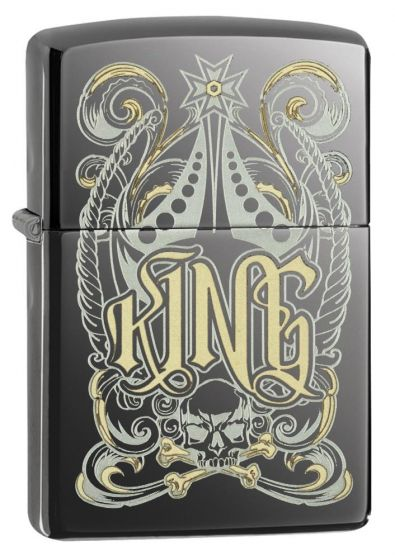 Zippo Royal Black Ice King Lighter 28798