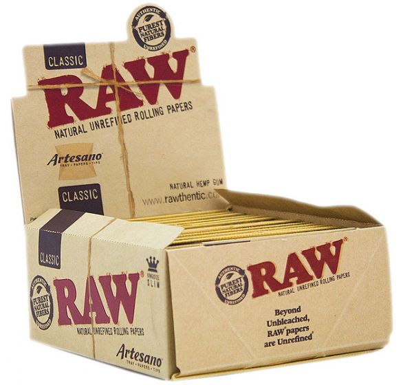 RAW Artesano King Size Slim Cigarette Rolling Papers