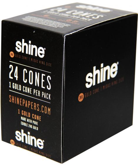 Shine 24K Gold 24 Cones Per Box