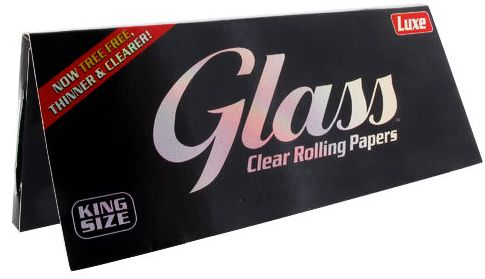 Luxe Glass Clear Rolling Papers King Size
