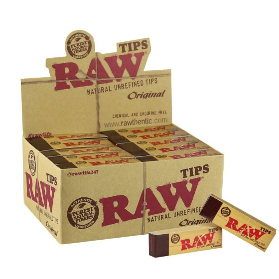 Raw Natural Unrefined 50 Tips Per Box