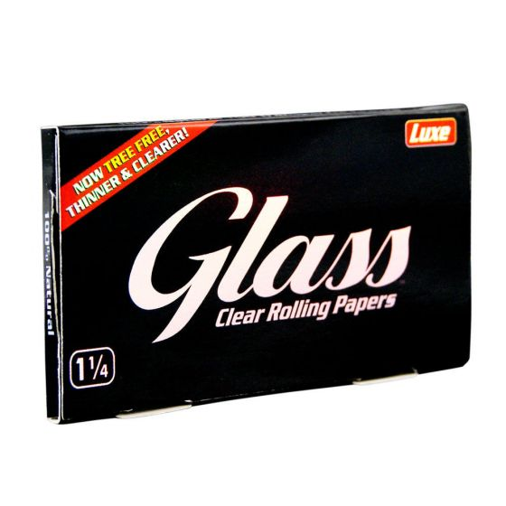 Glass Luxe 1 1/4 Clear Rolling Papers