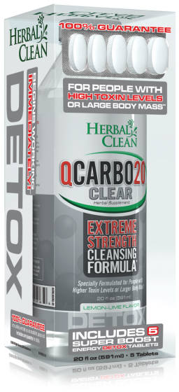 Qcarbo20 Extreme Strength 20 oz Lemon Lime