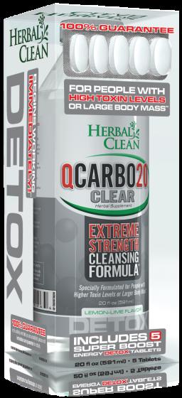 Qcarbo20 Extreme Strength 20 oz Lemon Lime