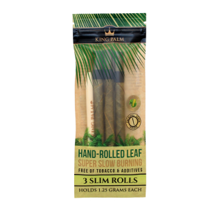 King Palm 3 Slim Rolls Hand Rolled Leaf Free Of Tobacco