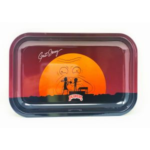 backwoods Aluminum Rolling Tray Dark Red Color