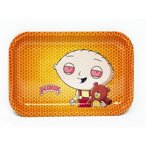 Backwoods Aluminum Rolling Tray Orange Yellow Color