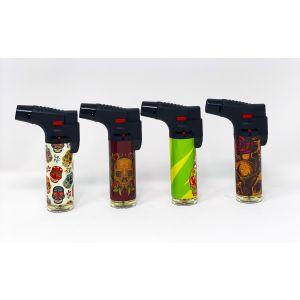 Blink Torch Gun Skulls Butane Gas Adjustable Jet Flame Four Color