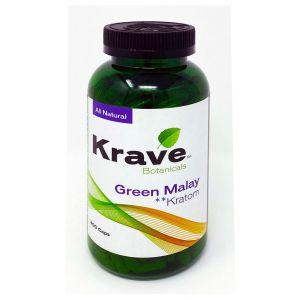 Krave Botanicals Green Malay Kratom 300 Caps