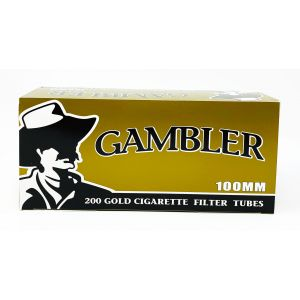 Gambler 200 Gold Cigarette Filter Tubes 100mm