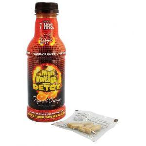 High Voltage Detox Tropical Orange 16oz Bottle with Capsules Combo