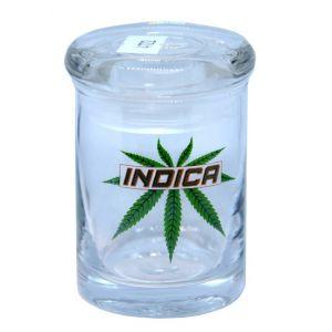 Indica 90ML Stash Clear Storage Glass Jar
