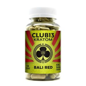 Club 13 Kratom Bali Red 120 Capsules Each 925mg