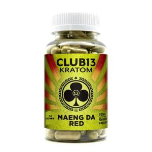 Club 13 Kratom Maeng Da Red 50 Capsules Each 925mg