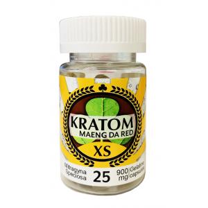 Kratom Maeng Da Red XS Club 13 Bottle Of 25 Capsules Each 900mg