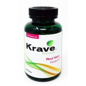 Krave Botanicals Red Vein Kratom 150 Caps All Natural