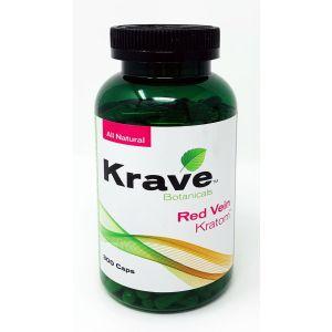 Krave Botanicals Red Vein Kratom 300 Caps All Natural