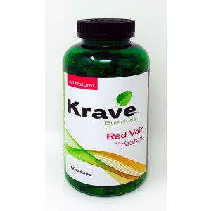 Krave Botanicals Red Vein Kratom 500 Caps All Natural