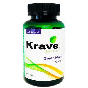 Krave Botanicals Green Malay Kratom 150 Caps Natural