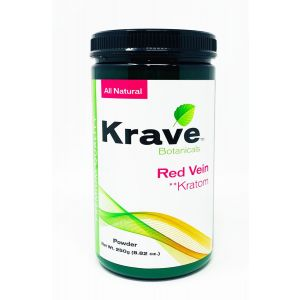 Krave Botanicals Red Vein Kratom Powder 250g 8.82 oz