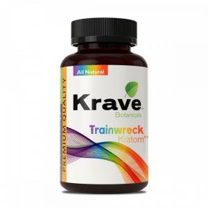 Krave Botanicals Trainwreck Kratom 150 Caps