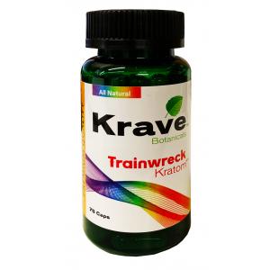 Krave Botanicals Trainwreck Kratom 75 Caps