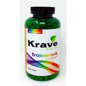 Krave Botanicals Trainwreck Kratom 500 Caps
