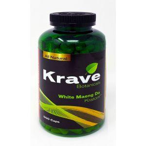 Krave Botanicals White Maeng Da Kratom 500 Caps