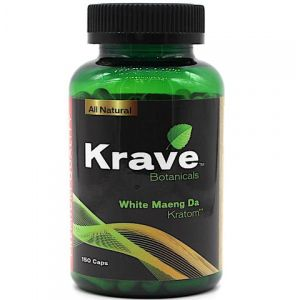 Krave Botanicals White Thai Kratom 150 Caps
