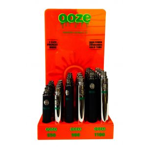 OOZE Standard Voltage 3.7V 650-900-1100 Apm Battry 24 Counts Box