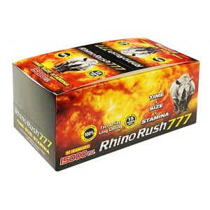 Rhino Rush 777 15000 Male Sexual Box 30 Pills