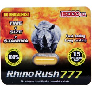 Rhino Rush 777 15000 Male Enhancement Gold Pill