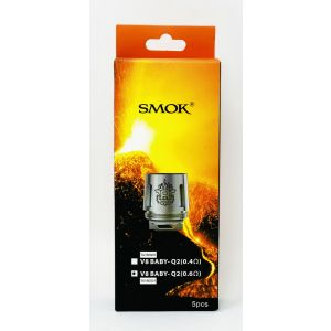 SMOK V8 Baby Q2 0.6ohm Dual Core Replacement Coils 5 PCs Pack
