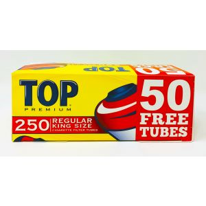 TOP Premium Regular King Size 250 Cigarette Filter Tubes