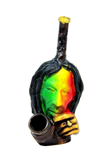 Bob Marley Hand Crafted Wooden Pipe