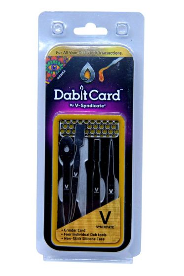 Grinder And Dab Tool Combo Set Dabit Card By V Syndicate