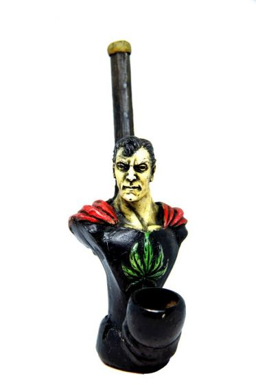 Superman Indica Handcrafted Wooden Pipe